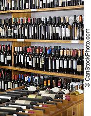 Flaskor, visat,  Supermarket, vin