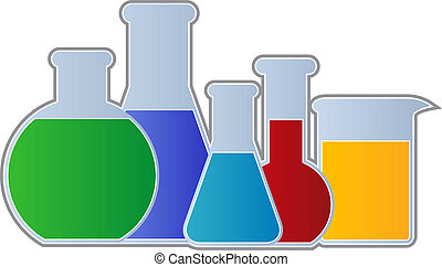Flasks and Beaker - Chemistry Equipment including flasks and...