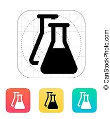 Flasks icon. Vector illustration.