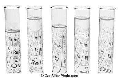 Flasks with liquids