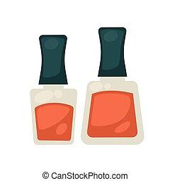Flasks with nail polish