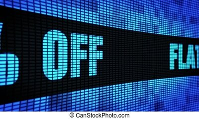 Flat 10% Percent Off Side Text Scrolling LED Wall Pannel...