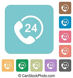 Flat 24 hour services icons