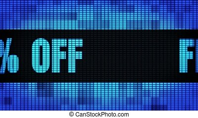 Flat 30% Percent Off Front Text Scrolling LED Wall Pannel...