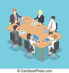 Isometric Business People Meeting