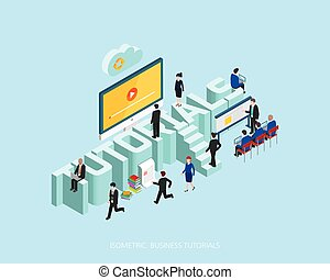 Flat 3d isometric vector illustration stock market concept design, Abstract urban modern style, high quality business series.