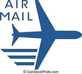 flat air mail icon