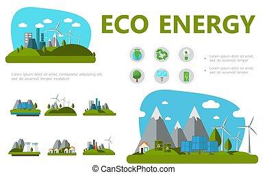 Flat Alternative Energy Concept