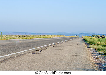 Flat and Straight Highway Taos New Mexico USA