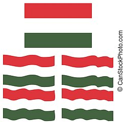 Flat and Waving Flag Of Hungary