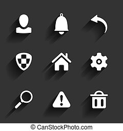 Flat application icons