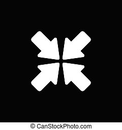 Flat arrows vector icon on a white background