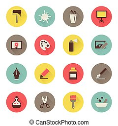 Set of icons flat art. Vector illustration