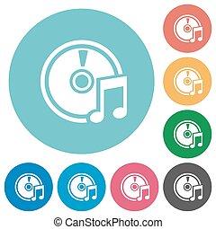 Flat audio CD icons