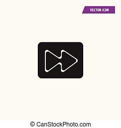 Flat audio, video, media fast forward Icon.