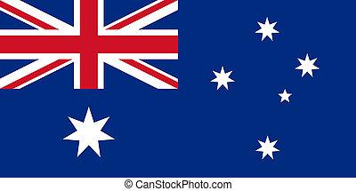 flat australian flag