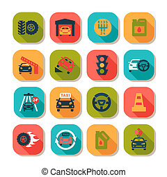 flat auto icons