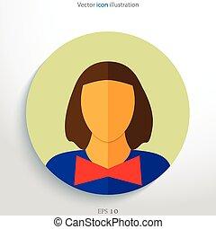 Flat avatar icon.
