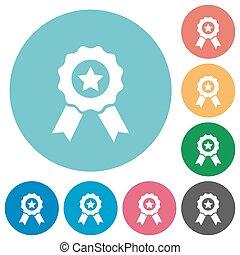 Flat award icons