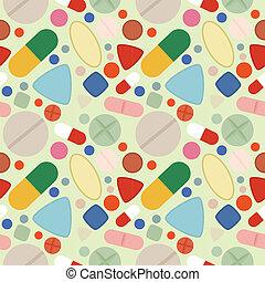 Flat Background of Pills