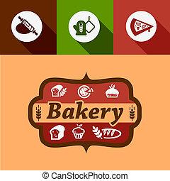 flat bakery design elements