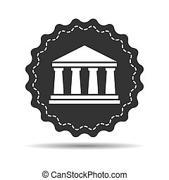 flat bank icon on a white background