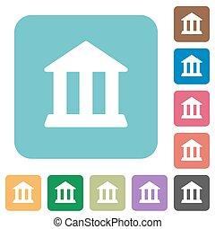 Flat bank icons