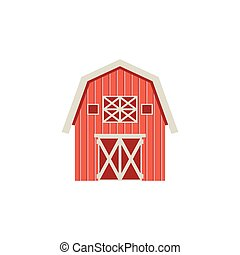 Flat barn icon isolated on white background. Vector