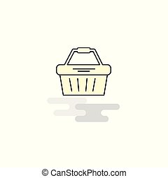 Flat Basket Icon. Vector
