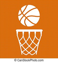 Flat basketball background