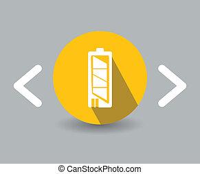 flat battery design icon