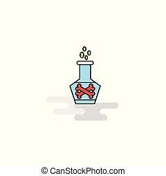 Flat Beaker Icon. Vector