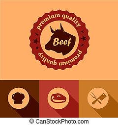 flat beef design elements