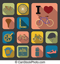 flat bicycle icons