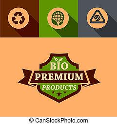 flat bio premium design elements