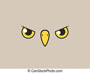 flat bird face style illustration