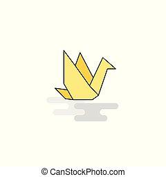 Flat Bird Icon. Vector