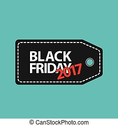flat black friday price tag 2017 on blue