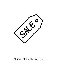 flat black friday price tag on white