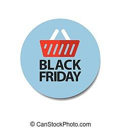 flat black friday price tag sticker