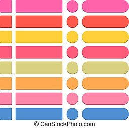 Flat blank web icon colorful round button