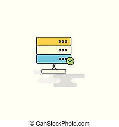 Flat Board Icon. Vector