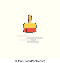 Flat Brush Icon. Vector