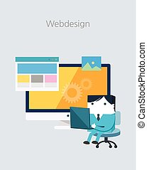 Flat Business character Series. webdesign concept