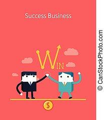 Flat Business character Series.business success team concept