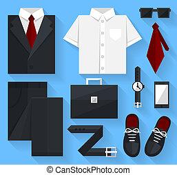 Flat business collection dress. Black color