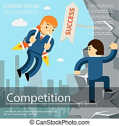 Flat Business Competition Template