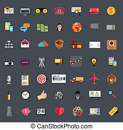 Flat Business Icon Set