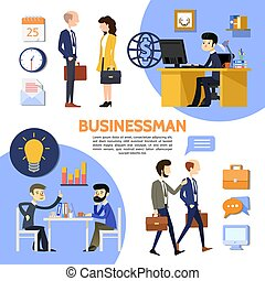 Flat Business Office Poster