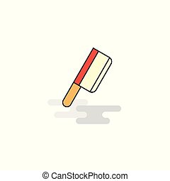 Flat Butcher knife Icon. Vector